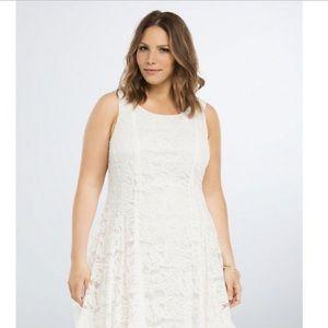 Torrid Lace V-Hem Dress